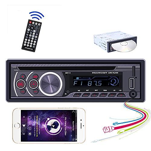 Carmektron Single Din Car Stereo Bluetooth HandsFree Calling Head Unit...