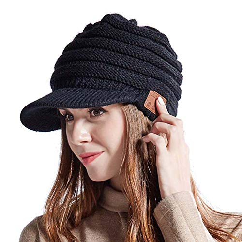 5.0 Bluetooth Beanie Hat Wireless Earphone Fashion Music Hat Hands-Free Call Suitable for Keeping Warm in Winter Outdoor Sports