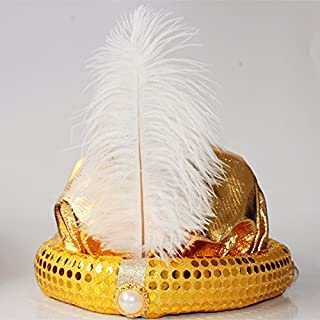 جاكي علاء الدين قبعة هالوين حفلة تنكرية الكبار الأطفال الطرف القبعات الأداء مع القبعات (الذهب الأحمر والأرجواني) 金色阿拉丁帽