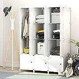 PREMAG - Guardarropa portátil para colgar ropa, armario combinado, armario modular para ahorrar...
