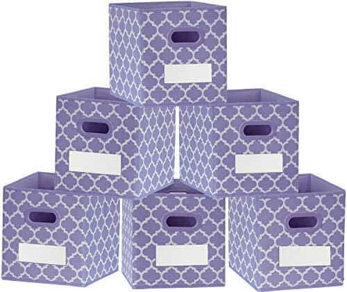 homyfort Cube Storage Bins Organizer 11x11x11 - Foldable Fabric...