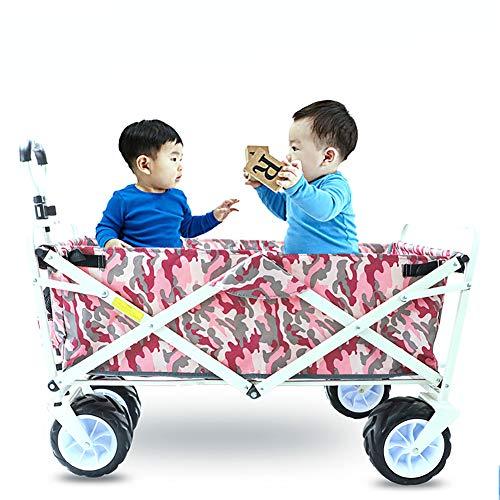 CRZJ Bollerwagen faltbar, Faltbarer Schwerlast-Trolley-Utility-Transportwagen 100 kg, max. Zuladung, für den Außenbereich/Festivals/Camping