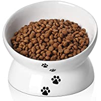 Y YHY Ceramic Pet Food Bowl for Flat Faced Cats