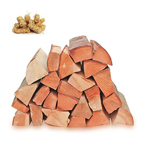 30kg Kaminholz Brennholz 25cm 100% reine Buche, ofenfertig, Kaminofen, Lagerfeuer + Öko Anzünder