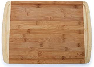 Culina Thick Bamboo (2.5cm) Cutting Board, Carved Drain, Large 44.5 X 31.75 cm