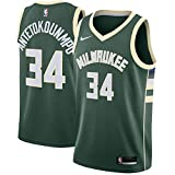 Nike Giannis Antetokounmpo Milwaukee Bucks NBA Boys Youth 8-20 Green Icon Edition Swingman Jersey (Youth Medium 10-12)