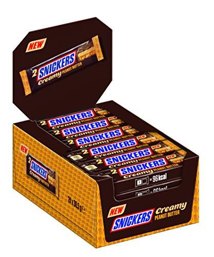 Snickers Creamy Peanut Butter | Milchschokolade gefüllt mit Erdnussbutter, Karamell und Erdnüssen | 24 Doppelriegel (24 x 36,5g), 876 g