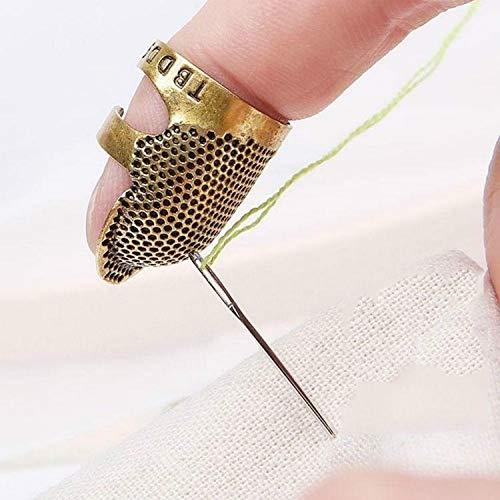 Luoshan Hogar Ajustable Dedo del Metal de Costura dedal de Costura Protectores Herramientas Accesorios (S) (Color : M)