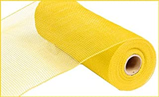 10 inch x 30 feet Deco Poly Mesh Ribbon - Value Mesh (Yellow)