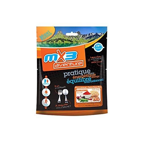MX3 Adventure Plat lyophilisé Nouilles Chinoise au Curry Rouge et crevette
