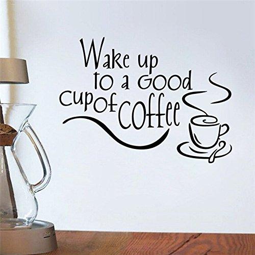 mlpnko Wandaufkleber Kaffeetasse Tee personalisiert kreativ für Wohnkultur Wohnzimmer Schlafzimmer Aufkleber35x25cm