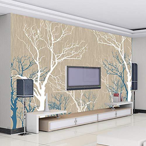 Tv achtergrond muur gepersonaliseerde TV achtergrond muur papier mural grote naadloze Mural fabriek directe verkoop vlies fotobehang 3D effect behang behang bos vintage 400 x 280 cm.