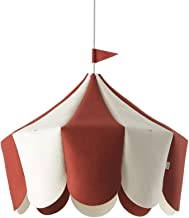 Buokids lamp Circus, wolvilt en hout, rood, 44 x 42 x 38 cm