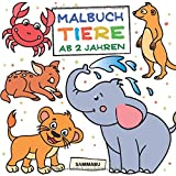 Malbuch Tiere ab 2 Jahren: Die bunte Welt der Tierkinder - Sammabu Edition