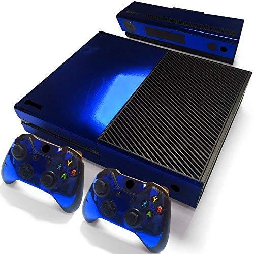 Mcbazel Calcomanías de la Serie Pattern Pegatinas de Vinilo Solo para Solo Xbox One original No para Xbox One S / Xbox one X (Azul Marino Brillante)