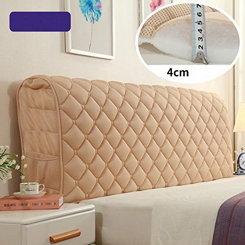 Great Deal! Fabric Soft Headboard Cover Quilted Backrest Dust-proof Cover Protector Bedside Cover Washable,Yellow-18060cm