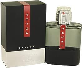 Prada Luna Rossa CARBON for Men Eau de Toilette Spray, 3.4 ounce