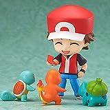 qinhuang Anime Pokemon Figura 10Cm Nendoroid Pokemon Go Ash Ketchum PVC Figura de acción Juguete muñ...