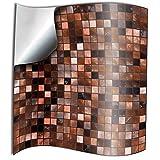 24 stück Fliesenaufkleber für Küche und Bad (TP3 6' Copper Brown) Mosaik Wandfliese Aufkleber für 15x15cm Fliesen Fliesen-Aufkleber Folie Farbe MitternachtsblauFolie Farbe für Küche u. Bad