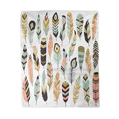 Topyee 130x150 cm Gooi Deken Groen Aloha Rode Hibiscus Tropische Bloemen in Roze Azië Warm Gezellige Print Flanellen Home Decor Comfortabele Deken voor Bank Slaapbank Bed