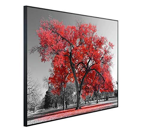 InfrarotPro C75-1200 | Infrarotheizung 1200 Watt Bildheizung 300+ Motive | Made in Germany | Geprüfte Technik | Ultra-HD Auflösung, K07: Kunst Roter Baum, 115x100x3cm