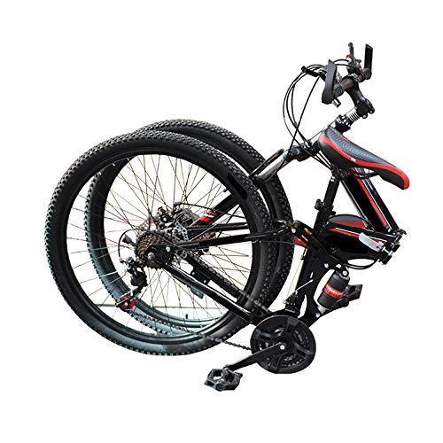 MH-LAMP A Bike Klapprad, Mountainbike Hardtail, Herren Fahrrad Scheibenbremsen, Fahrrad Mit Gabelfederung, 26 Zoll, Mit Flasche, Bottle Cage,Rot,27 Speed