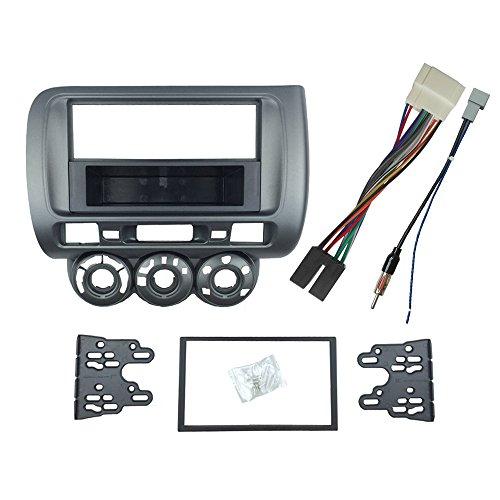 Maxiou 1-DIN- Doppel-DIN-Radioblende mit DVD, Radio, Einbaurahmen (für Linkslenker-Fahrzeuge)