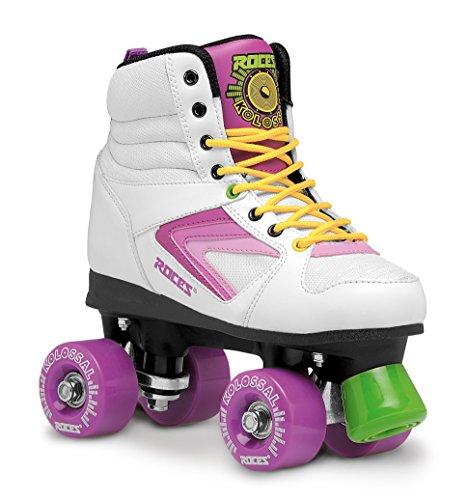 Roces Damen Kolossal Rollerskates/Rollschuhe Street, weiß-purple-Gelb, 38