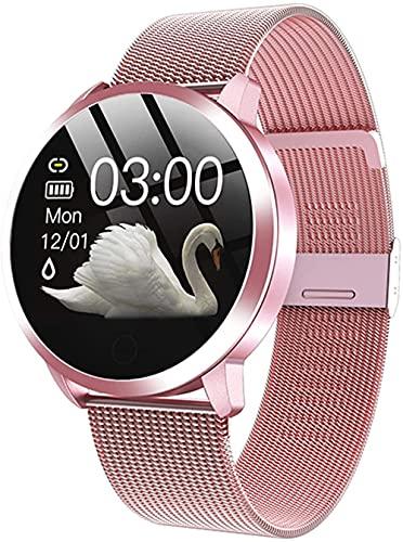 Reloj Inteligente Q8 Plus Pantalla de Color Reloj Inteligente Señoras Moda Fitness Tracker Monitor Pulsera para Ios Android-C.