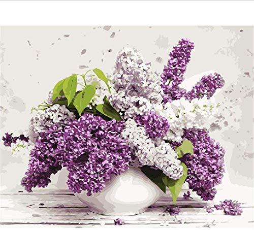 SWAOOS 1000 Piezas Jigsaw Puzzles para Adultos Bolígrafo Flor Lila Morado Adultos y niños decoración Rompecabezas educativos