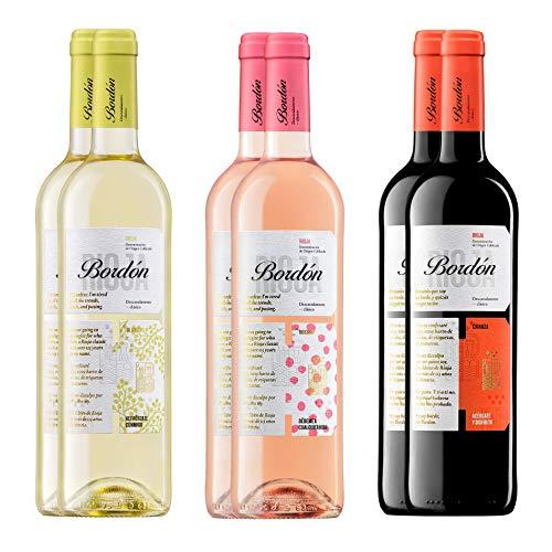 Pack Vinos D.O.C Rioja (6 botellas) - 2 Bordón Blanco + 2 Bordón Rosado + 2 Bordón Crianza