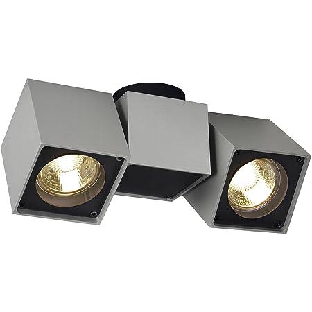 SLV Spot LED ALTRA DICEOrientable et Inclinable | applique et Plafonnier Variable pour Eclairage Intérieur, Spot LED | Luminaire de Plafond, Projecteur de Plafond, Lampes de Plafond, Lampe Murale, 3Lampes | GU10, E-A++