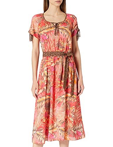 Betty Barclay Damen 1550/2205 Kleid, Red/Camel, 38
