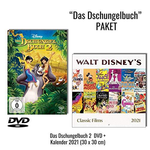 Das Dschungelbuch 2 (DVD) + Kalender 2021 (Walt Disney's Filmklassiker)