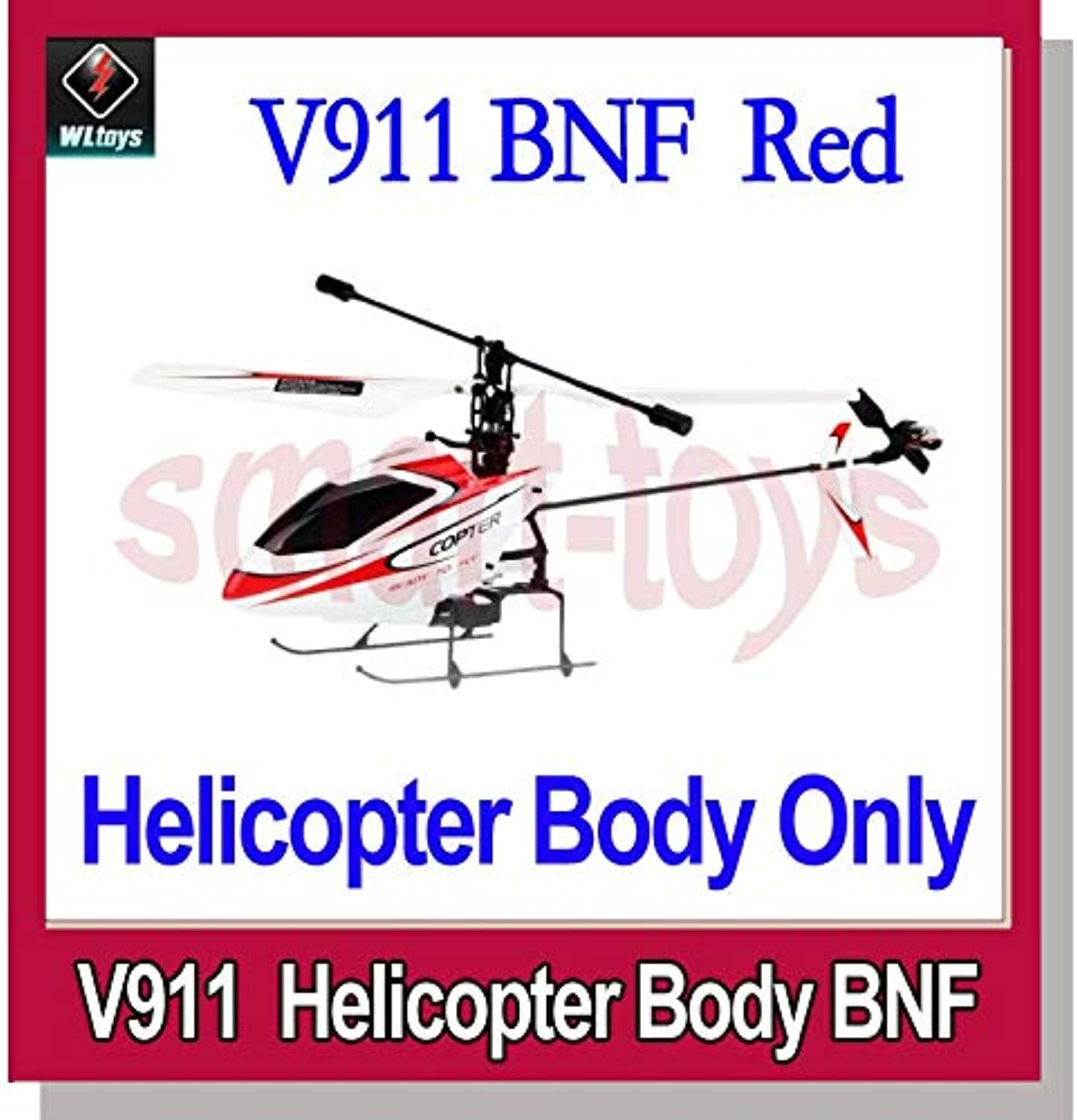 Generic WLtoys V911 2.4GHz 4CH Micro Singleredor RC Helicopter BNF with Gyro Body Only Red