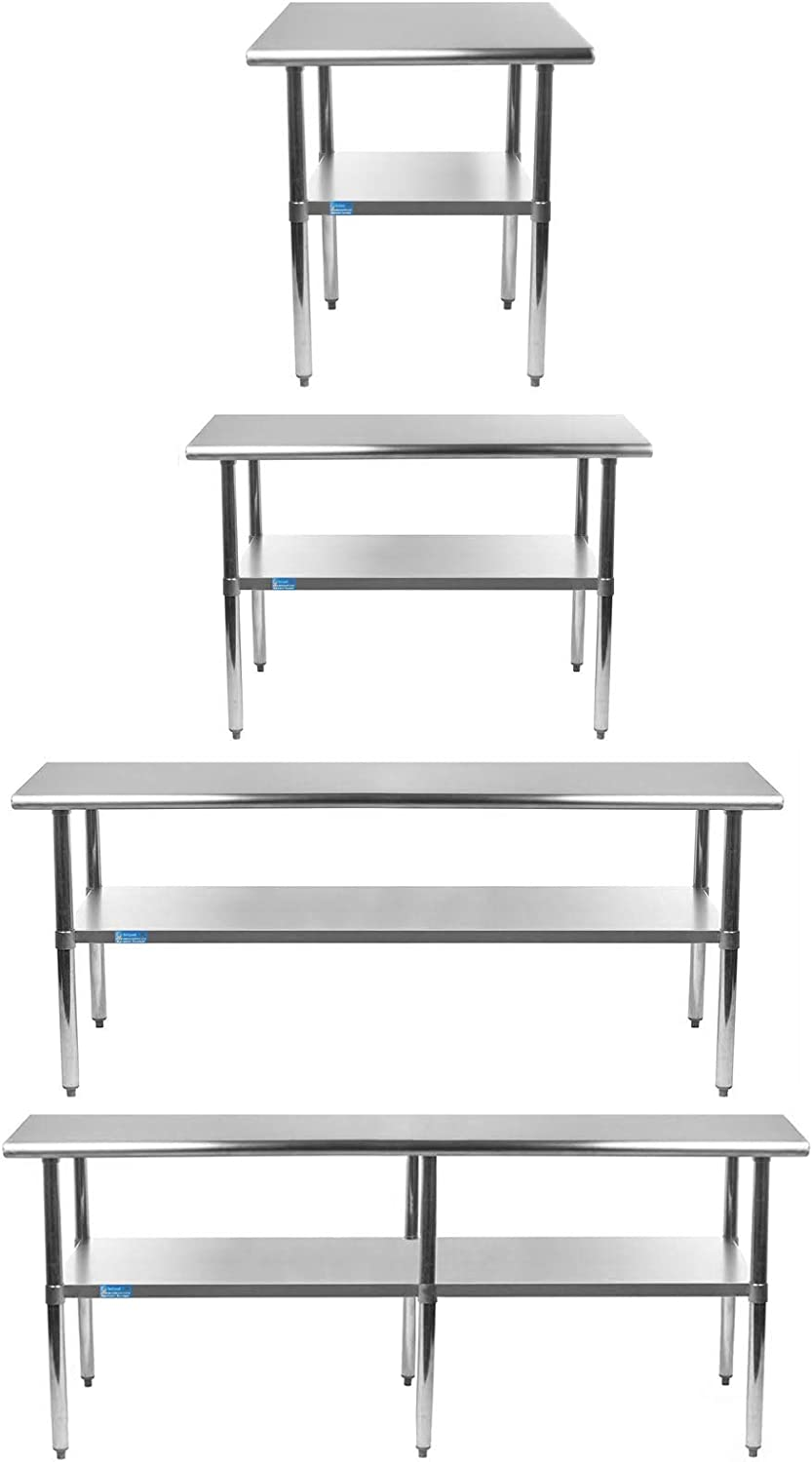 Stainless Steel Table+ Optional Casters From Siz 70% OFF Outlet 43 Choose Deluxe