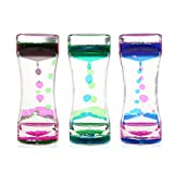 BESTOMZ 3 Pack Liquid Motion Timer Bubbler für Sensory Play, Fidget Spielzeug für Play, Fidgeting,...