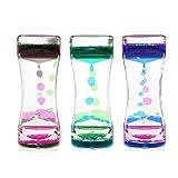 BESTOMZ Reloj de arena líquido regalo de cumpleaños de los niños de juguete 3pcs