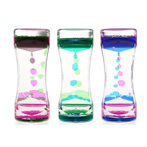 BESTOMZ 3 Pack Liquid Motion Timer Bubbler für Sensory Play, Fidget Spielzeug für Play, Fidgeting, Captivating Distraction
