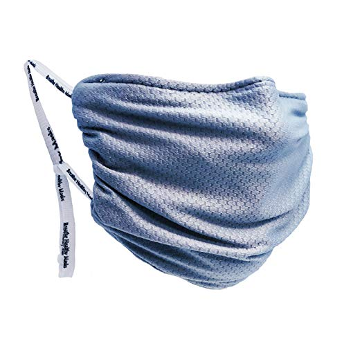 Breathe Healthy Adult Size Cloth Face Mask, Steel Blue