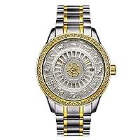 QTMIAO 美しい時計 Tevise / 12 Zodiac 9055Gダイヤモンドオスカー自動機械式時計カレンダーウォッチ (Color : 1)