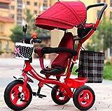 JIEJIE Triciclos Triciclos de Triciclo cochecitos niños niños Triciclo Masculino y Femenino bebé Bicicleta Carrito / 1-2-3-6-año-año niño Bicicleta Carro de bebé (Color: 3) (Color: 2) (Color : 3)