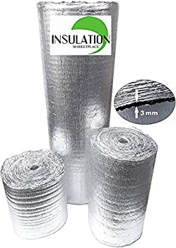 SmartSHIELD -3mm 16 x50Ft Reflective Insulation roll Foam Core Radiant Barrier Thermal Insulation Shield Commercial Grade  16 x50