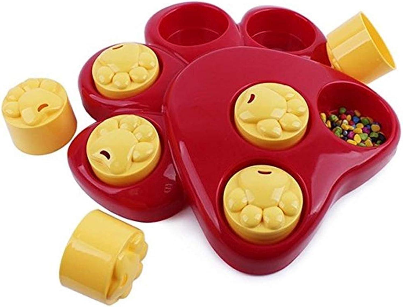 Fishagelo Multifunction Pet Bowl Feeder Toy 7 Holes Dog Paw Educational Training Toys Puppy Puzzle Toys Fishagelo