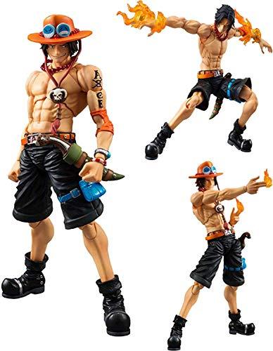 One Piece - Statuetta di Ace, One Piece Figure Figure Fire Fist Ace articolata, collezione di azione in PVC, decorazione collezionabile, giocattolo animazione
