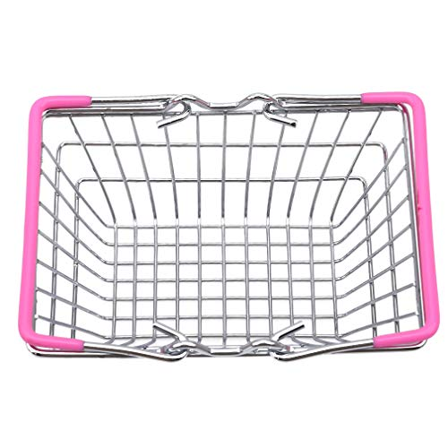 #N/A Maorniessy Mini cesta de la compra de supermercado para cocina, frutas, verduras, alimentos, alimentos, juguetes, regalos, hierro