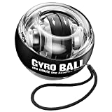 JIN BD Wrist Trainer Ball Auto-Start Wrist Strengthener Gyroscopic Forearm Exerciser Gyro Ball for Strengthen Arms, Fingers, Wrist Bones and Muscles(Black)