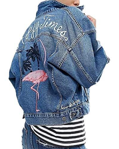 Jeansjack dames casual revers jeans jas blauw mode trend meisje denim herfstjas outdoorwear herfst apparaat winter