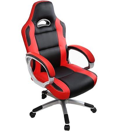 IntimaTe WM Heart Sedia Gaming Ergonomico ,Sedia Ufficio Di PU, Poltrona PC Girevole con Schienale Rosso ,GB01