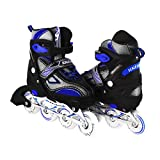 Kids/Teen Adjustable Inline Skates for Girls and Boys Durable Outdoor Roller Blades Illuminating